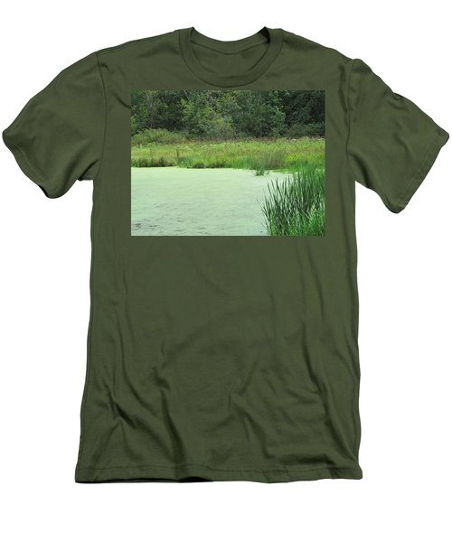Men's T-Shirt (Slim Fit) featuring the photograph Green Moss by Tina M Wenger