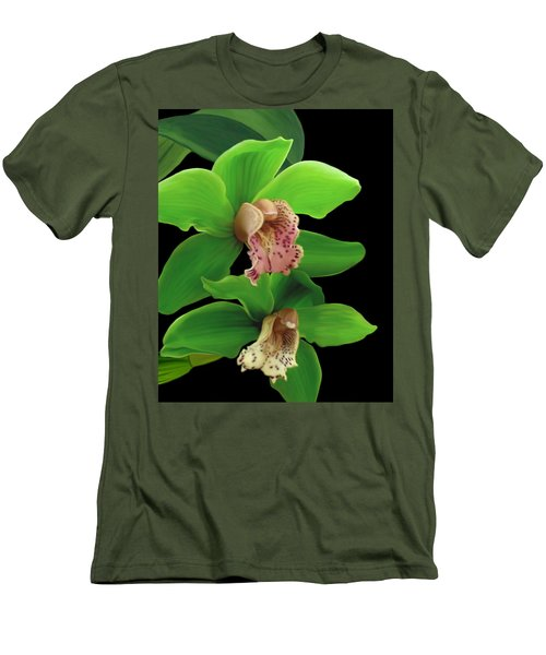 Green Orchids Men's T-Shirt (Athletic Fit)