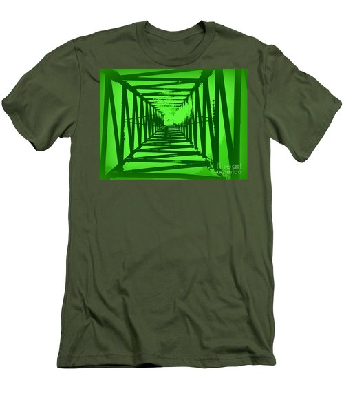 Men's T-Shirt (Slim Fit) featuring the photograph Green Perspective by Clare Bevan