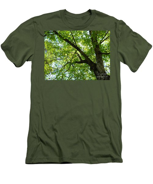 Men's T-Shirt (Slim Fit) featuring the photograph Green by Ramona Matei