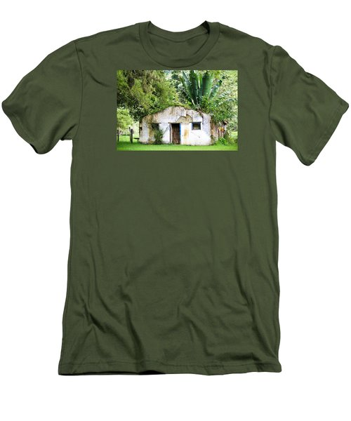 Green Roof Men's T-Shirt (Slim Fit) by Menachem Ganon