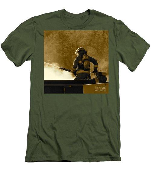 Greer Lodge  Men's T-Shirt (Slim Fit) by Pamela Walrath