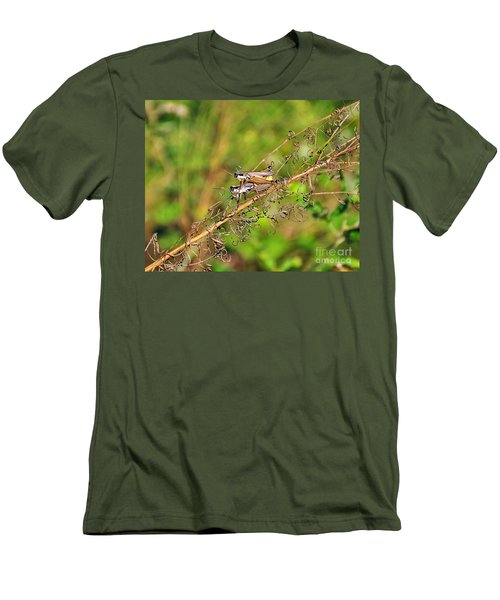 Gregarious Grasshoppers Men's T-Shirt (Athletic Fit)