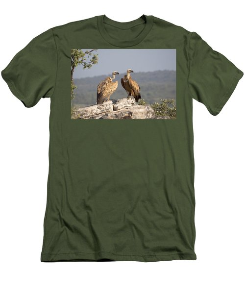 Griffon Vulture Pair Extremadura Spain Men's T-Shirt (Slim Fit) by Gerard de Hoog