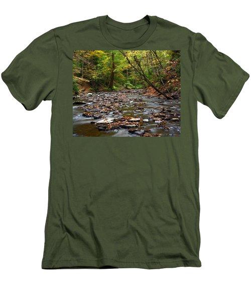 Creek Walk Men's T-Shirt (Slim Fit) by Richard Engelbrecht