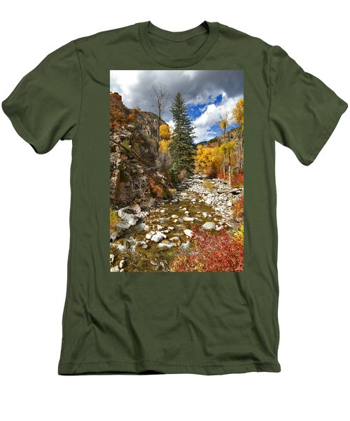 Men's T-Shirt (Slim Fit) featuring the photograph Grizzly Creek Cottonwoods Vertical by Jeremy Rhoades