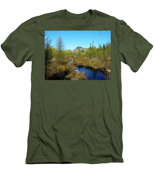 Men's T-Shirt (Slim Fit) featuring the photograph Groton State Forest Moose Country by Sherman Perry