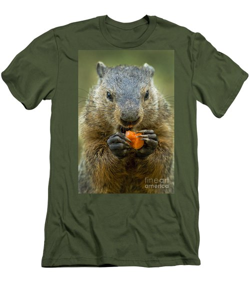 Groundhogs Favorite Snack Men's T-Shirt (Athletic Fit)