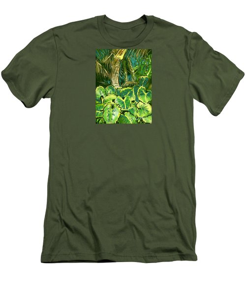 Men's T-Shirt (Slim Fit) featuring the painting Guanabana Tropical by Jean Pacheco Ravinski
