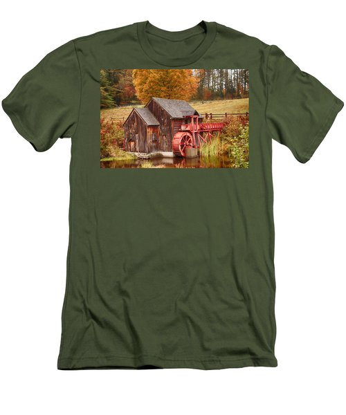 Men's T-Shirt (Slim Fit) featuring the photograph Guildhall Grist Mill by Jeff Folger