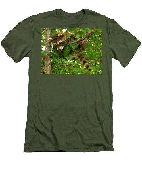 Men's T-Shirt (Slim Fit) featuring the photograph Hang In There by James Peterson