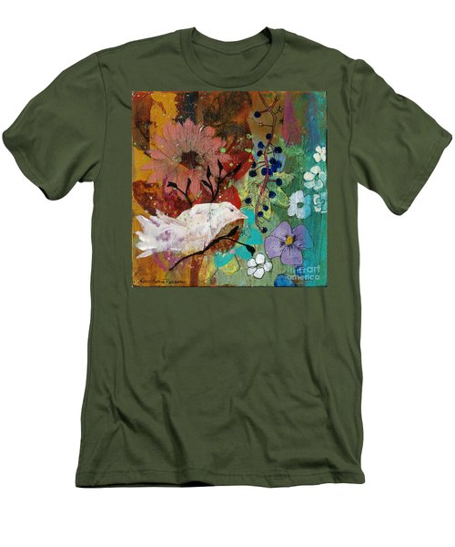 Men's T-Shirt (Slim Fit) featuring the painting Happiness by Robin Maria Pedrero