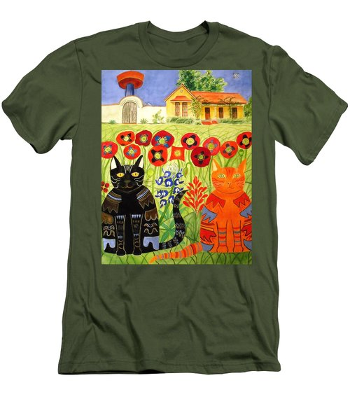 Happy Cats Men's T-Shirt (Athletic Fit)