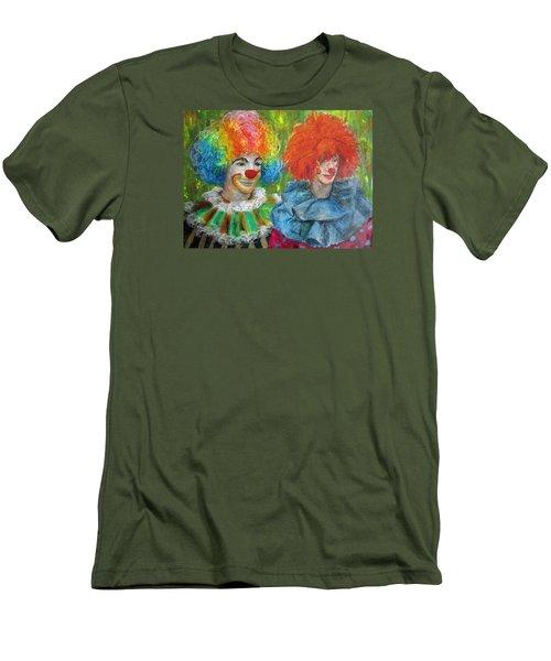 Gemini Clowns Men's T-Shirt (Slim Fit) by Jieming Wang