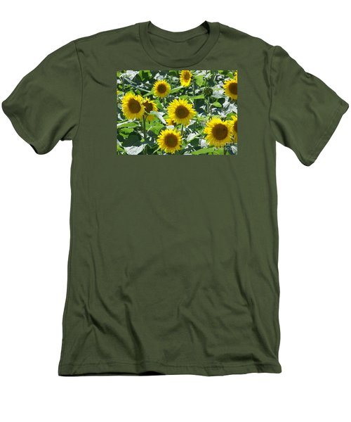 Men's T-Shirt (Slim Fit) featuring the photograph Happy Faces by Jackie Mueller-Jones