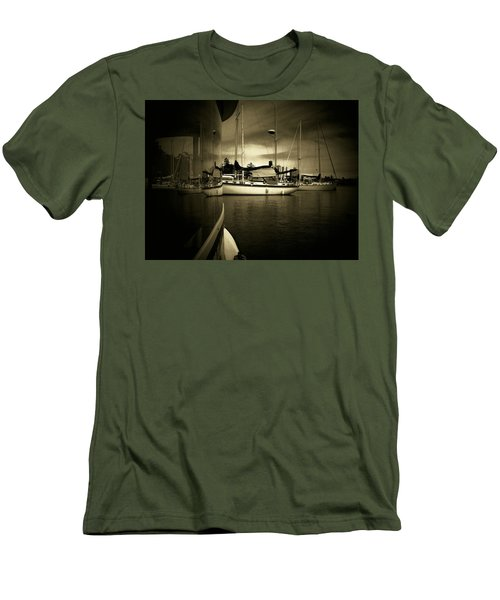 Men's T-Shirt (Slim Fit) featuring the photograph Harbour Life by Micki Findlay