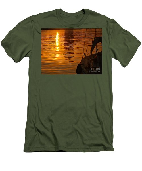 Men's T-Shirt (Slim Fit) featuring the photograph Harbour Sunset by Clare Bevan