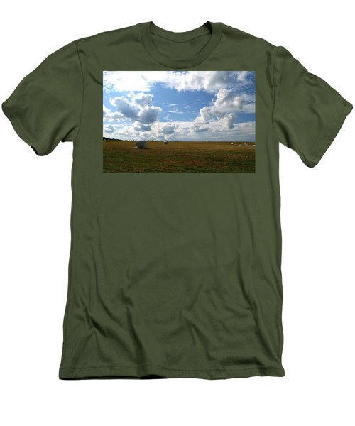 Men's T-Shirt (Slim Fit) featuring the photograph Harvest Blue  by Neal Eslinger