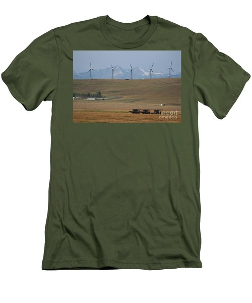 Harvesting Wind And Grain Men's T-Shirt (Athletic Fit)