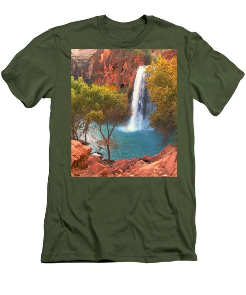 Men's T-Shirt (Slim Fit) featuring the photograph Havasu Falls by Alan Socolik