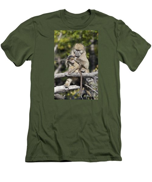 Men's T-Shirt (Slim Fit) featuring the photograph Have You Cleaned Behind Your Ears by Liz Leyden