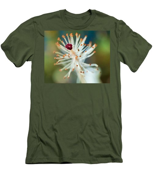 Hawaiian White Hibiscus Men's T-Shirt (Athletic Fit)