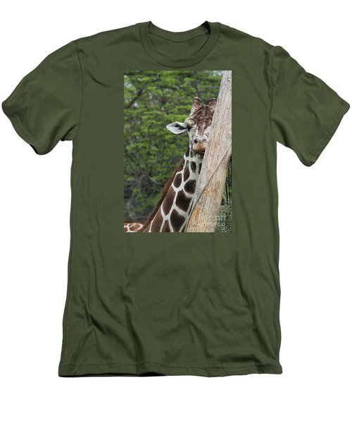 Men's T-Shirt (Slim Fit) featuring the photograph Hay Not Just For Horses by Judy Whitton
