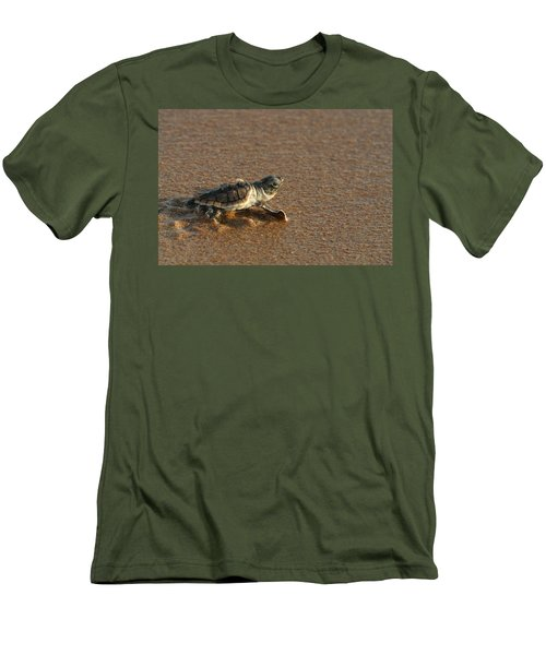Men's T-Shirt (Slim Fit) featuring the photograph Heading Out To Sea by Paul Rebmann