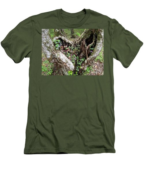 Men's T-Shirt (Slim Fit) featuring the photograph Heart-shaped Tree by Jan Dappen
