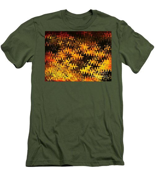 Men's T-Shirt (Slim Fit) featuring the photograph Heat by Anita Lewis