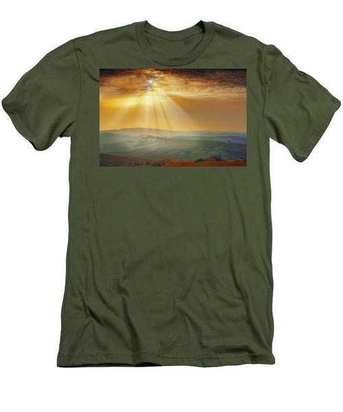 Heavenly Rays Men's T-Shirt (Slim Fit) by Midori Chan