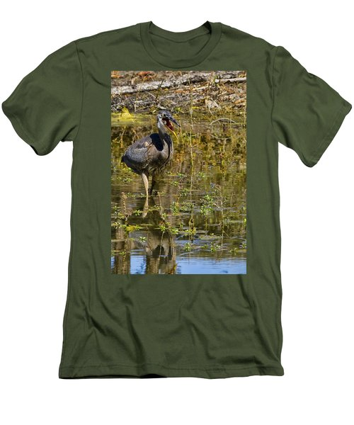 Men's T-Shirt (Slim Fit) featuring the photograph Heimlich Please by Gary Holmes