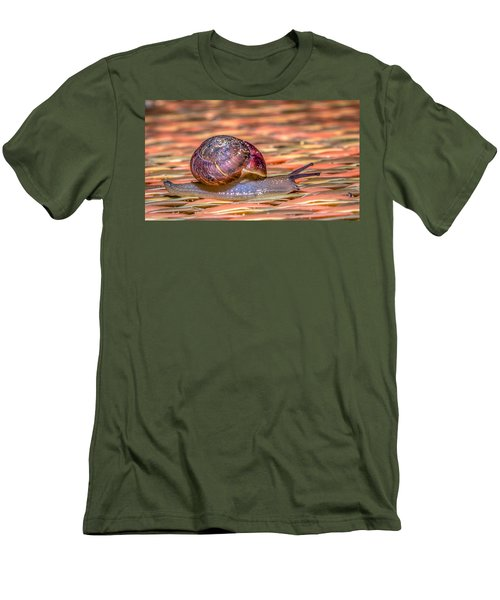 Men's T-Shirt (Slim Fit) featuring the photograph Helix Aspersa by Rob Sellers