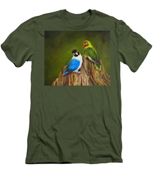 Men's T-Shirt (Slim Fit) featuring the painting Hello by Roseann Gilmore