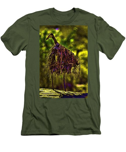 Men's T-Shirt (Slim Fit) featuring the photograph Heron Totem by Gary Holmes