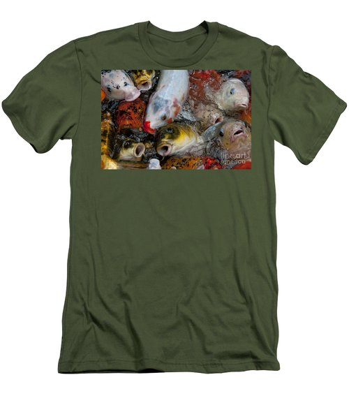 Men's T-Shirt (Slim Fit) featuring the photograph Hey Whats Happening by Wilma  Birdwell