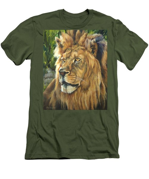Him - Lion Men's T-Shirt (Athletic Fit)