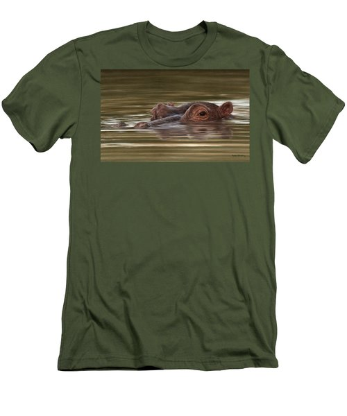 Hippo Painting Men's T-Shirt (Athletic Fit)