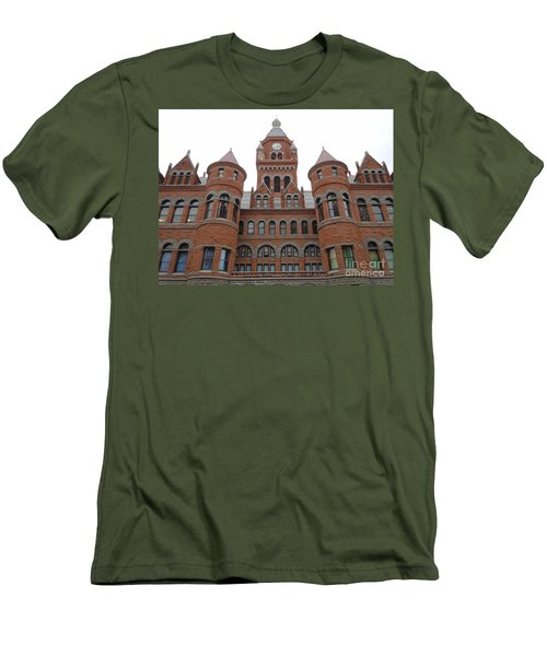 Men's T-Shirt (Slim Fit) featuring the photograph Historic Old Red Courthouse Dallas #1 by Robert ONeil