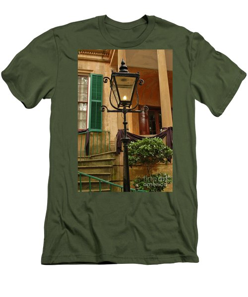 Men's T-Shirt (Slim Fit) featuring the photograph Historical Gas Light by Patrick Shupert