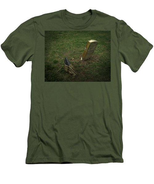 Men's T-Shirt (Slim Fit) featuring the photograph Remembered by Cynthia Lassiter