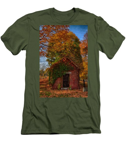 Men's T-Shirt (Slim Fit) featuring the photograph Holding Up The  Fall Colors by Jeff Folger
