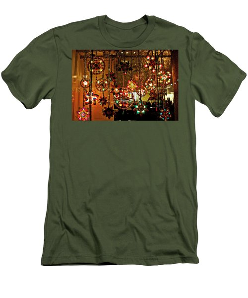 Men's T-Shirt (Slim Fit) featuring the photograph Holiday Lights by Suzanne Stout
