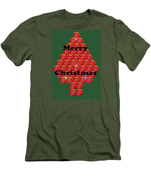 Holiday Tree Of Orbs 1 Men's T-Shirt (Slim Fit) by Nick Kloepping