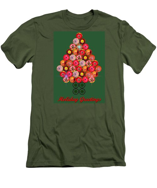 Holiday Tree Of Orbs 3 Men's T-Shirt (Slim Fit) by Nick Kloepping