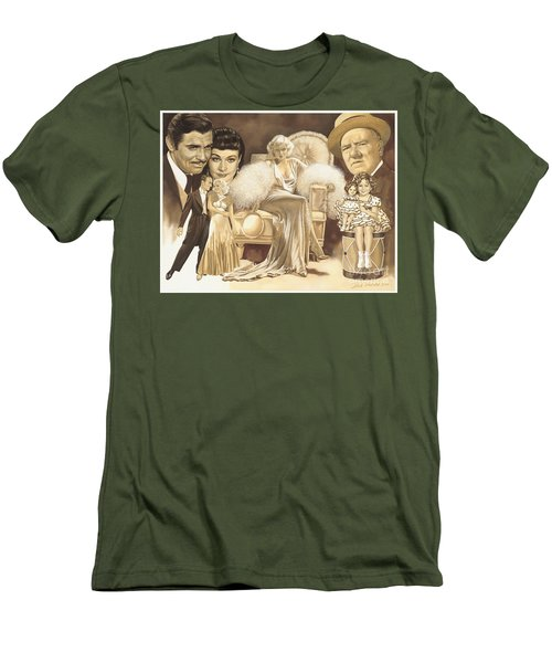 Hollywoods Golden Era Men's T-Shirt (Slim Fit) by Dick Bobnick
