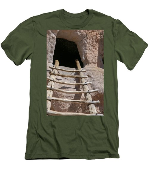 Home In Frijoles Canyon Men's T-Shirt (Slim Fit) by Lynn Sprowl