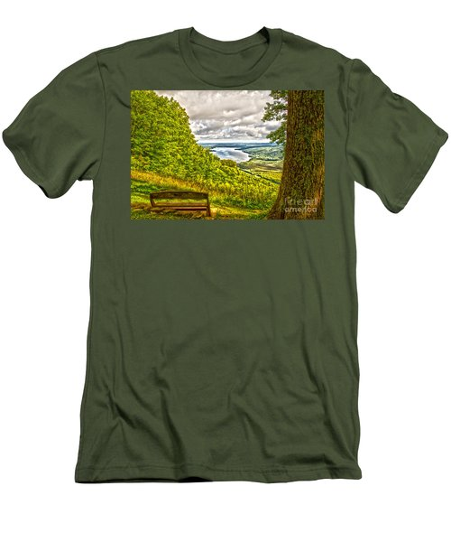Honeoye Lake Overlook Men's T-Shirt (Athletic Fit)