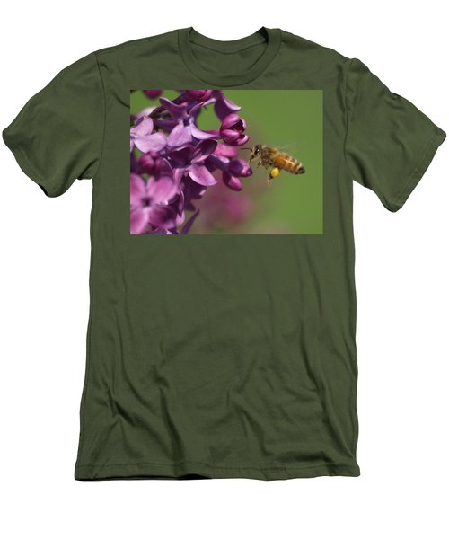 Honey Bee And Lilac Men's T-Shirt (Athletic Fit)