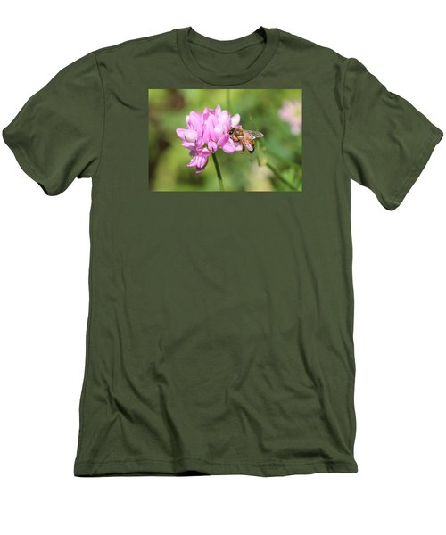 Honeybee On Crown Vetch Men's T-Shirt (Athletic Fit)